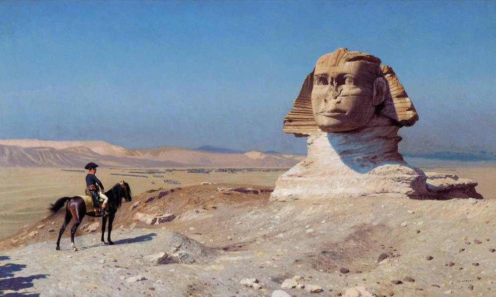 Jean Leon Gerome Bonaparte Before The Sphinx, Orientalism, Jean-Léon Gérôme, kanvas tablo, canvas print sales