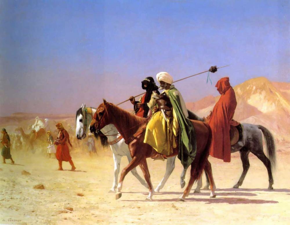 Jean Leon Gerome Çölü Geçerken Araplar, Oryantalizm, Jean-Léon Gérôme, kanvas tablo, canvas print sales