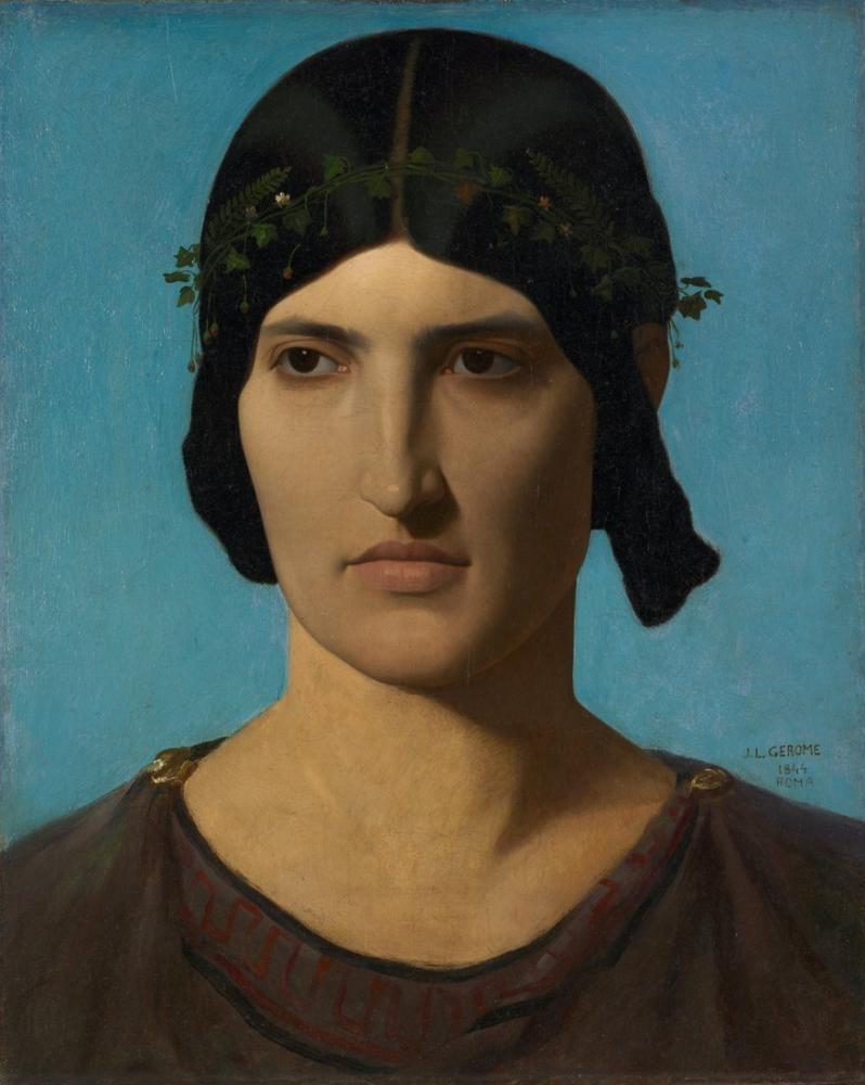 Jean Leon Gerome Head Of An Italian Woman, Canvas, Jean-Léon Gérôme, kanvas tablo, canvas print sales
