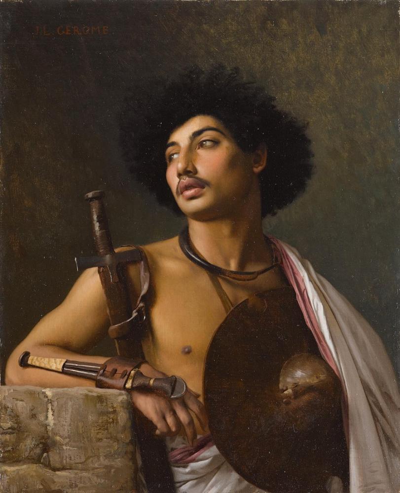 Jean Leon Gerome Bischari Savaşçısı, Oryantalizm, Jean-Léon Gérôme, kanvas tablo, canvas print sales