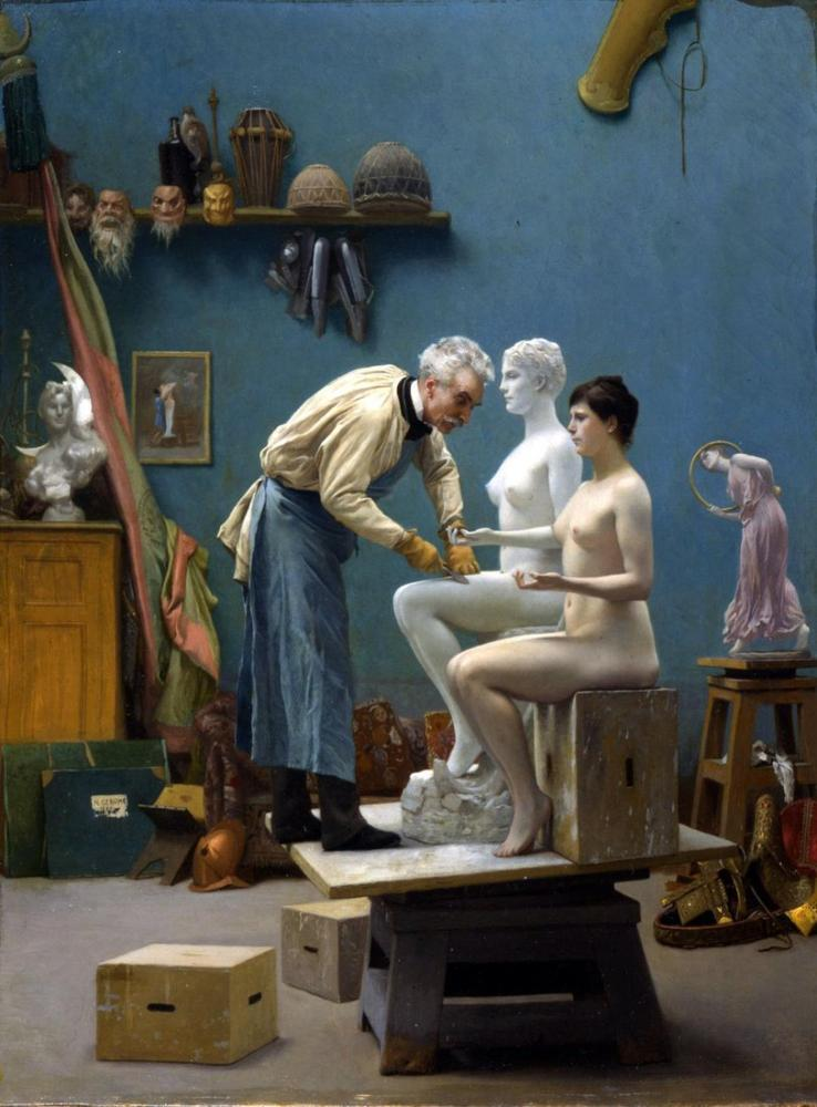 Jean Leon Gerome Working In Marble, Canvas, Jean-Léon Gérôme, kanvas tablo, canvas print sales