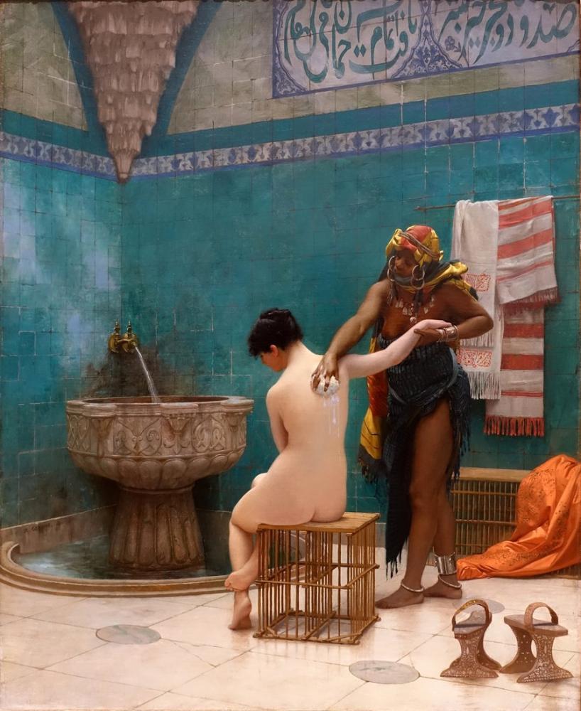 Jean Leon Gerome Banyo, Oryantalizm, Jean-Léon Gérôme, kanvas tablo, canvas print sales