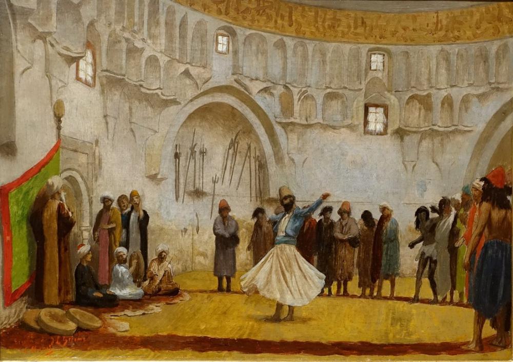 Jean Leon Gerome Sema Derviş, Oryantalizm, Jean-Léon Gérôme, kanvas tablo, canvas print sales