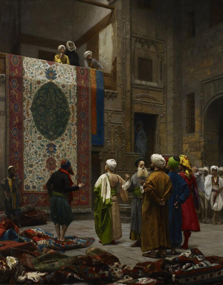 Jean Leon Gerome Halı Tüccarı, Oryantalizm, Jean-Léon Gérôme, kanvas tablo, canvas print sales