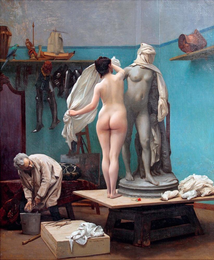 Jean Leon Gerome The End Of The Pose, Canvas, Jean-Léon Gérôme, kanvas tablo, canvas print sales