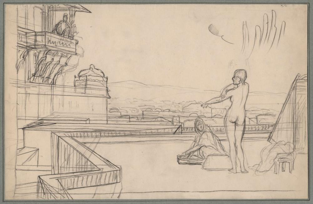 Jean Leon Gerome Batşeba Eskiz, Kanvas Tablo, Jean-Léon Gérôme, kanvas tablo, canvas print sales