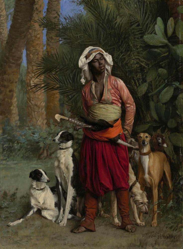 Jean Leon Gerome The Negro Master Of The Hounds, Orientalism, Jean-Léon Gérôme, kanvas tablo, canvas print sales
