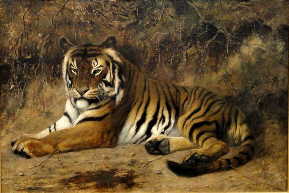 Jean Leon Gerome Tiger, Orientalism, Jean-Léon Gérôme, kanvas tablo, canvas print sales