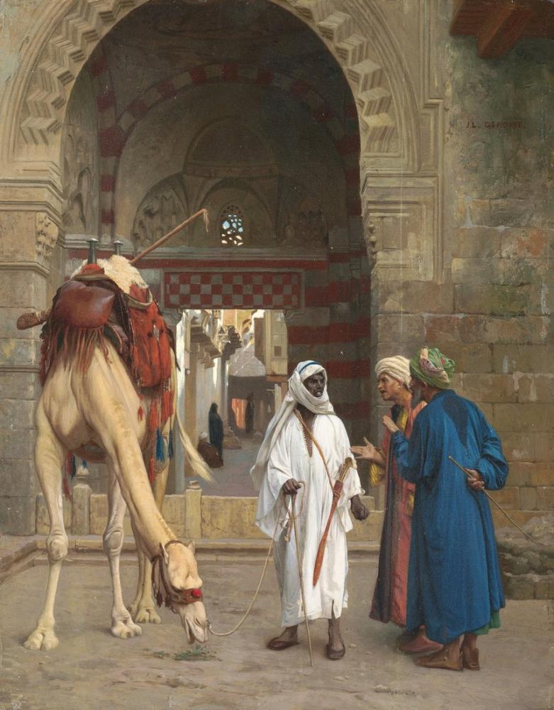 Jean Leon Gerome Dispute Of Arabs, Orientalism, Jean-Léon Gérôme, kanvas tablo, canvas print sales