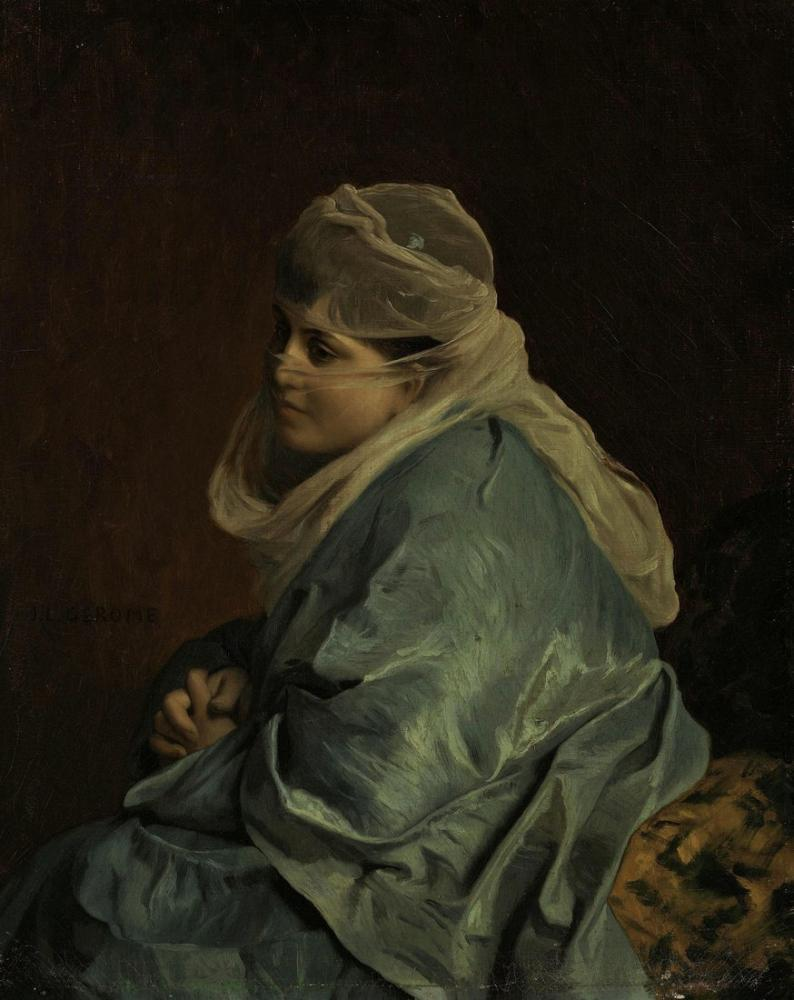 Jean Leon Gerome Konstantinopolis Kadını, Oryantalizm, Jean-Léon Gérôme, kanvas tablo, canvas print sales