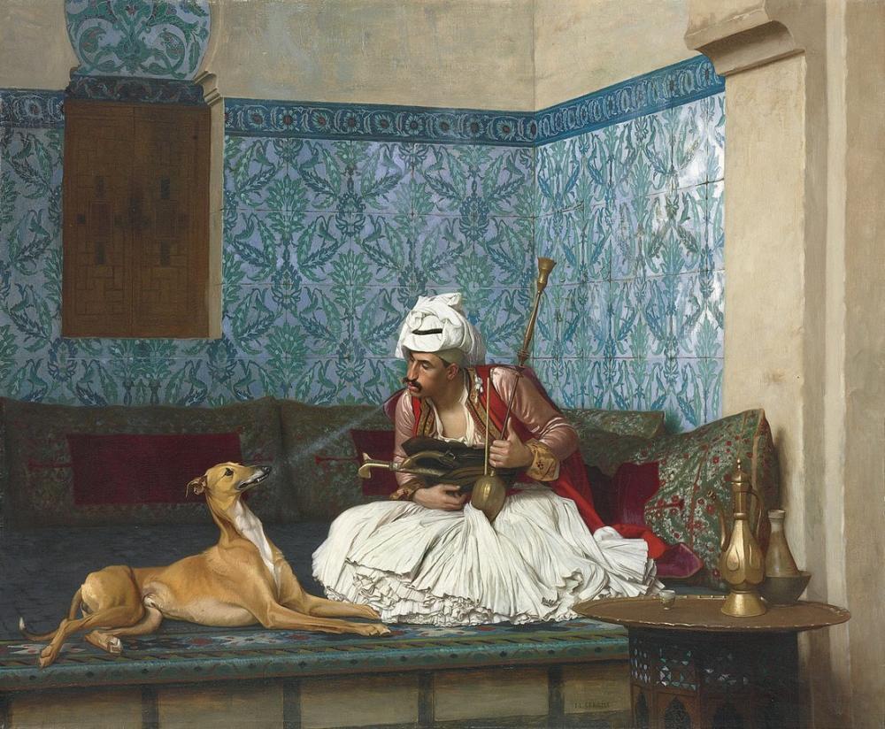 Jean Leon Gerome A Joke, Orientalism, Jean-Léon Gérôme, kanvas tablo, canvas print sales