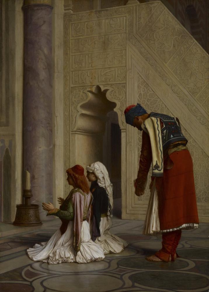 Jean Leon Gerome Camide Genç Yunanlılar, Oryantalizm, Jean-Léon Gérôme, kanvas tablo, canvas print sales