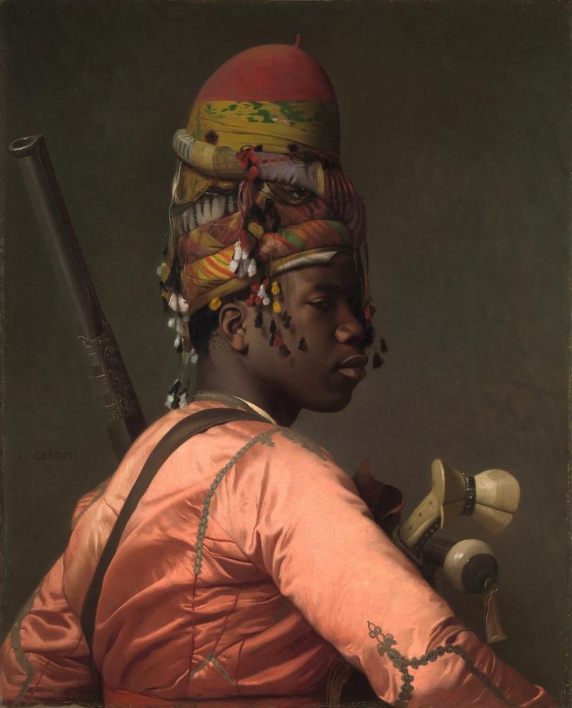 Jean Leon Gerome Siyah Bashi Bazouk, Oryantalizm, Jean-Léon Gérôme, kanvas tablo, canvas print sales