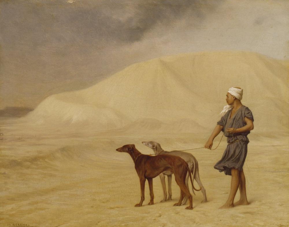 Jean Leon Gerome Çölde Walters, Oryantalizm, Jean-Léon Gérôme, kanvas tablo, canvas print sales