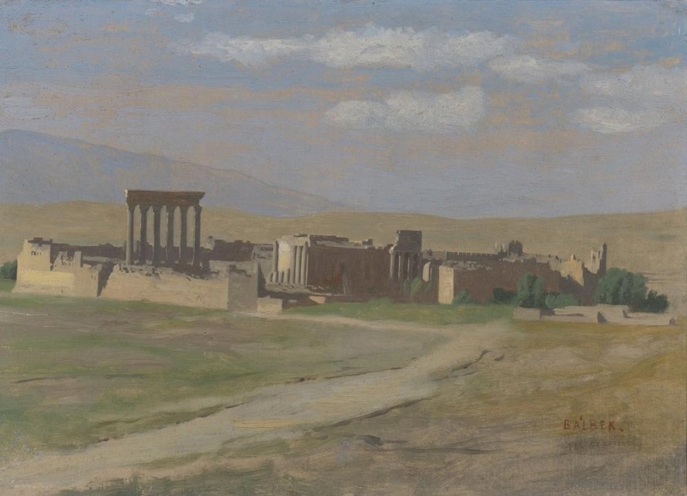 Jean Leon Gerome View Of Baalbek, Orientalism, Jean-Léon Gérôme, kanvas tablo, canvas print sales