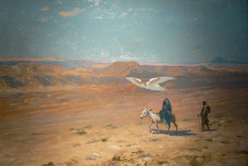 Jean Leon Gerome Mısır Uçuşu, Oryantalizm, Jean-Léon Gérôme, kanvas tablo, canvas print sales