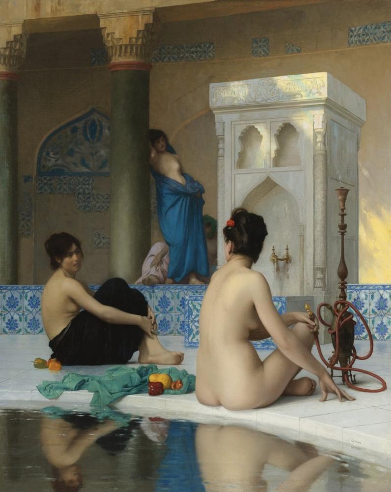 Jean Leon Gerome Banyodan Sonra, Oryantalizm, Jean-Léon Gérôme, kanvas tablo, canvas print sales