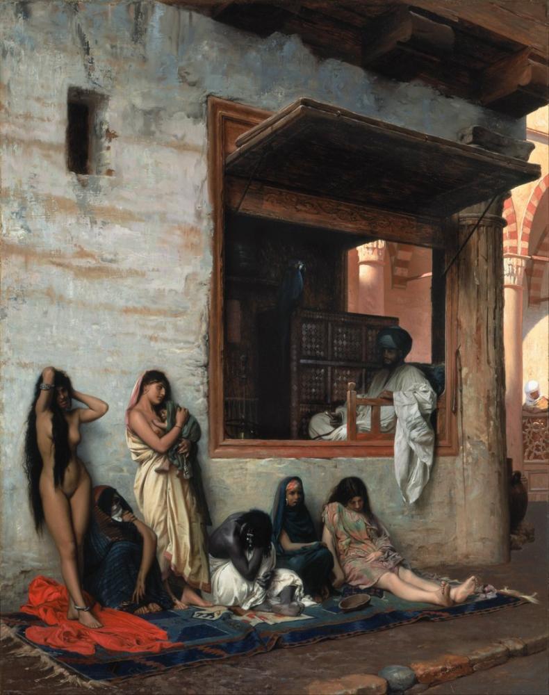 Jean Leon Gerome The Slave Market, Orientalism, Jean-Léon Gérôme, kanvas tablo, canvas print sales