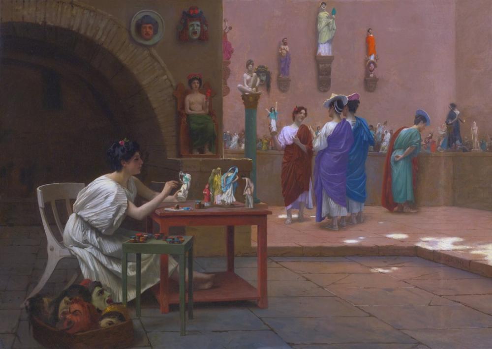 Jean Leon Gerome Hayatı Heykele Dönüştürüyor, Kanvas Tablo, Jean-Léon Gérôme, kanvas tablo, canvas print sales