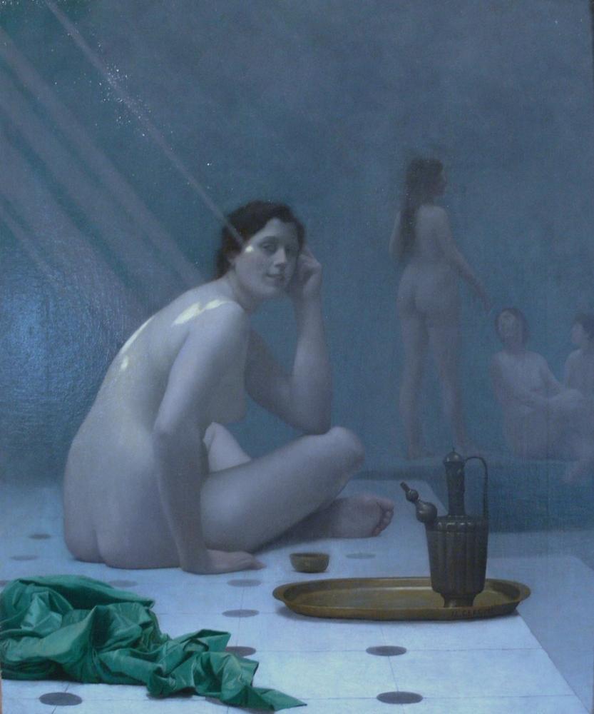 Jean Leon Gerome Femmes Au Bain, Orientalism, Jean-Léon Gérôme, kanvas tablo, canvas print sales