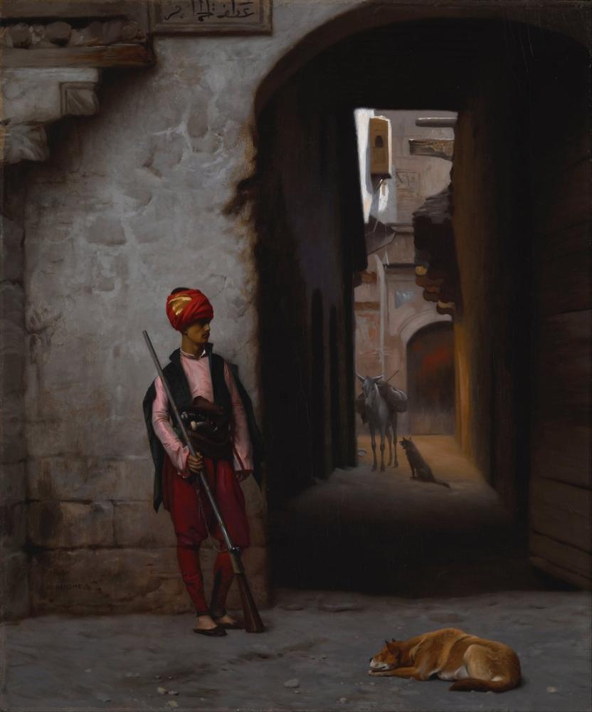 Jean Leon Gerome The Guard, Orientalism, Jean-Léon Gérôme, kanvas tablo, canvas print sales