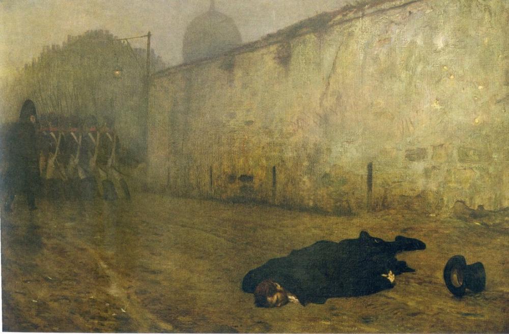 Jean Leon Gerome Mareşal Ney Ölümü, Kanvas Tablo, Jean-Léon Gérôme, kanvas tablo, canvas print sales