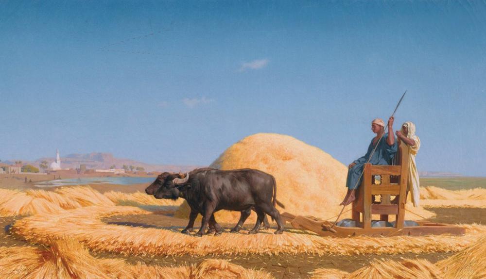 Jean Leon Gerome The Grain Threshers Egypt, Orientalism, Jean-Léon Gérôme, kanvas tablo, canvas print sales