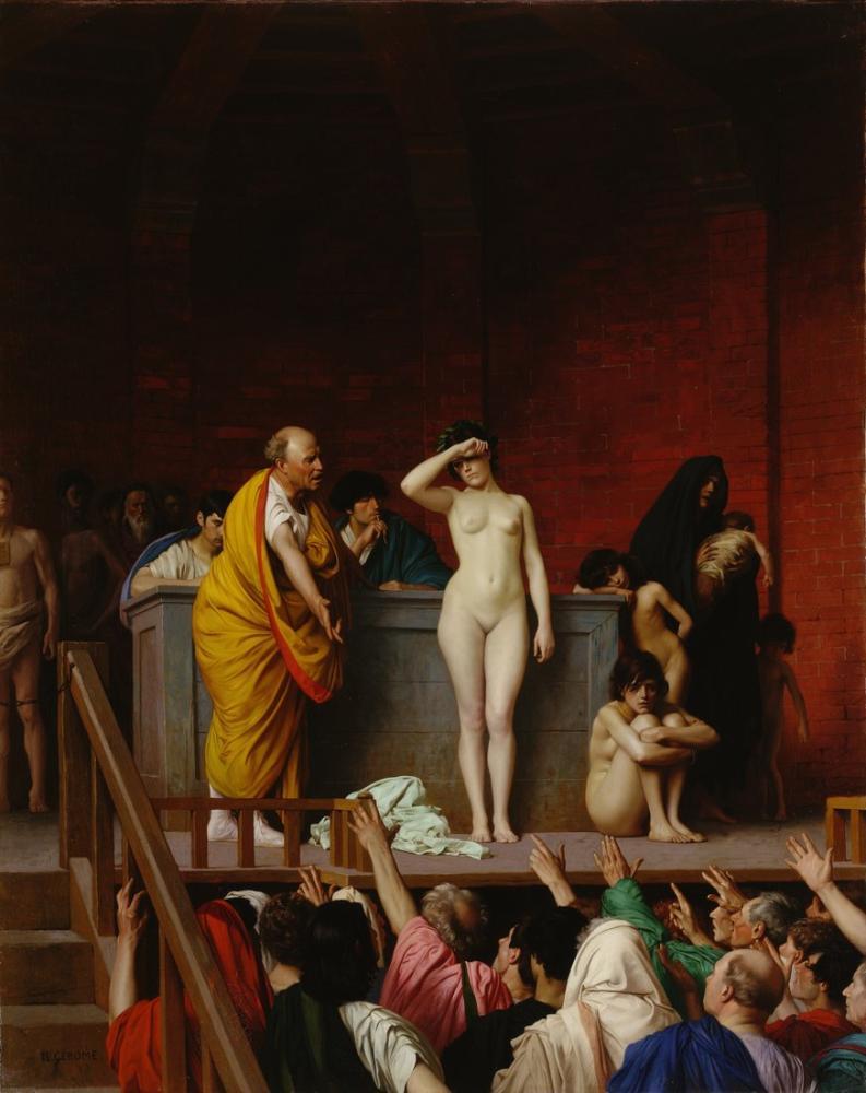 Jean Leon Gerome Köle Pazarı Roma, Oryantalizm, Jean-Léon Gérôme, kanvas tablo, canvas print sales
