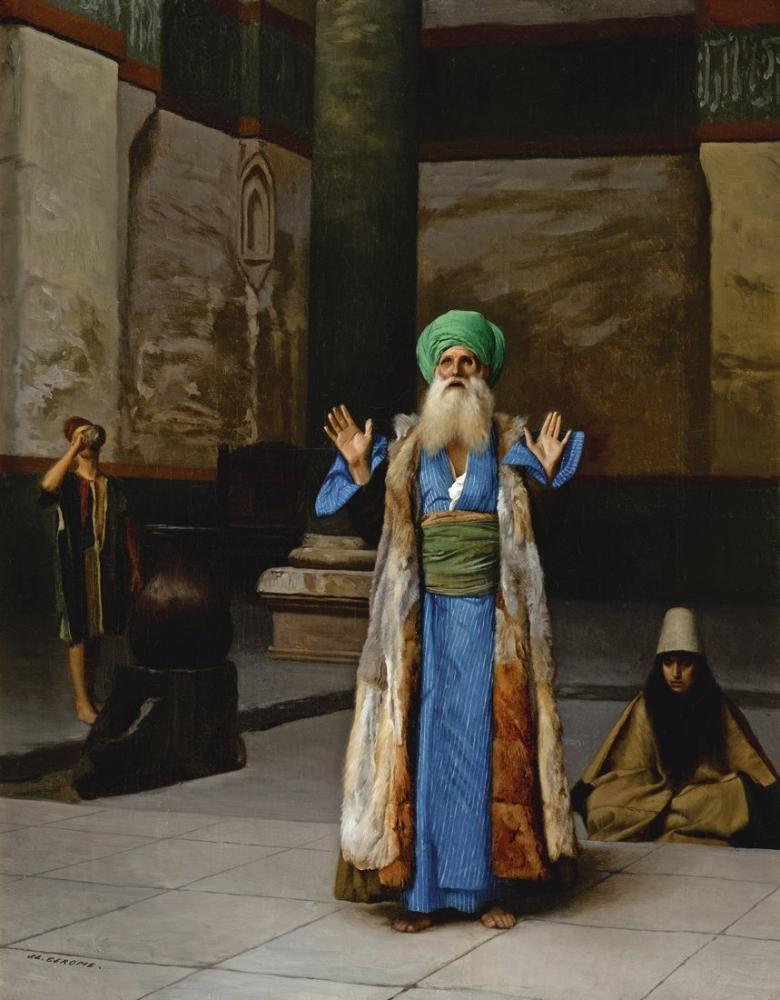 Jean Leon Gerome Namazda Bir Sultan, Oryantalizm, Jean-Léon Gérôme, kanvas tablo, canvas print sales
