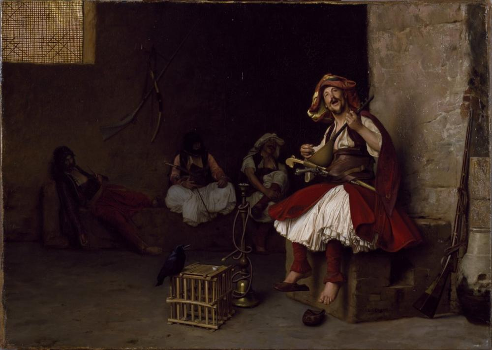 Jean Leon Gerome Bashi Bazouk Şarkı Söyleyen Muhafızlar, Oryantalizm, Jean-Léon Gérôme, kanvas tablo, canvas print sales