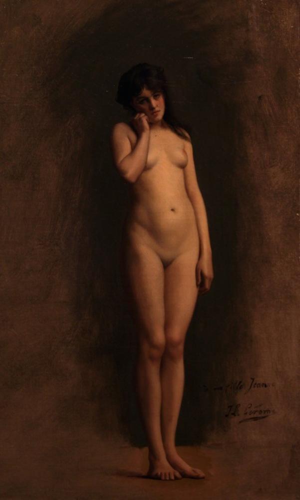 Jean Leon Gerome Çıplak Genç Kız, Oryantalizm, Jean-Léon Gérôme, kanvas tablo, canvas print sales