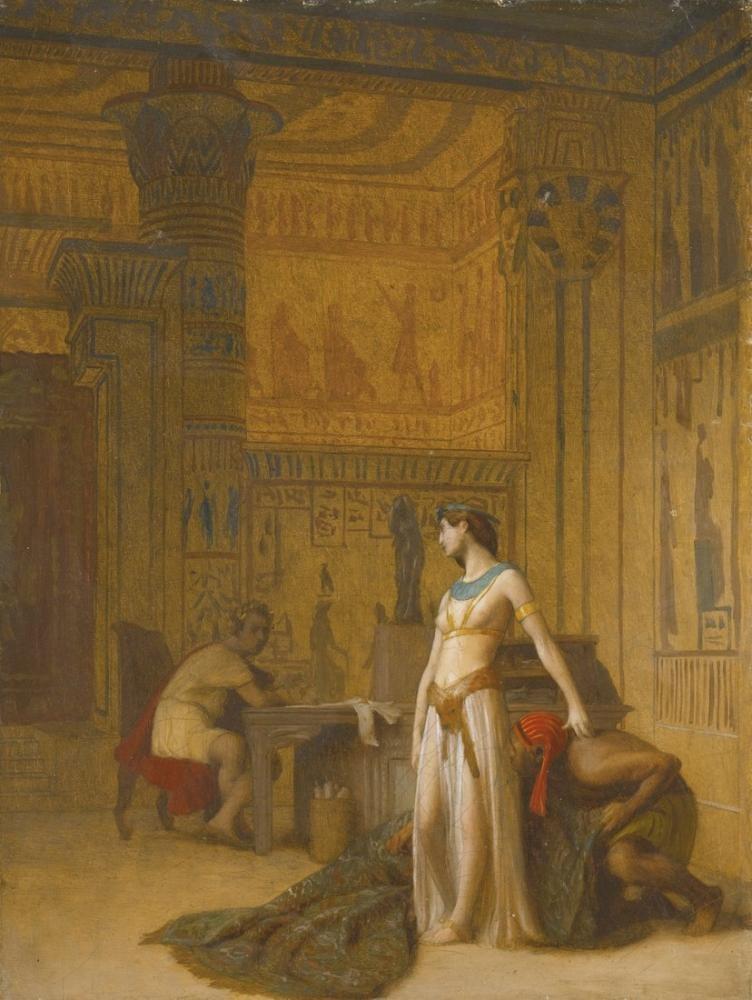 Jean Leon Gerome Kleopatra Ve Sezar, Oryantalizm, Jean-Léon Gérôme, kanvas tablo, canvas print sales
