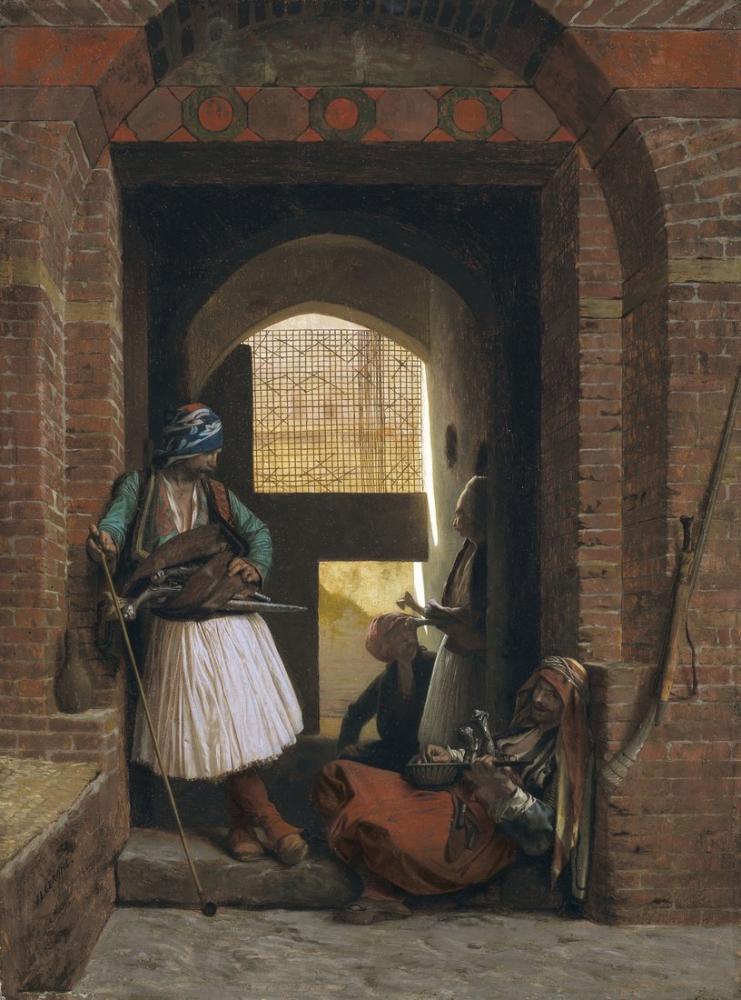 Jean Leon Gerome Donanma Muhafız Birliği Kahire, Oryantalizm, Jean-Léon Gérôme, kanvas tablo, canvas print sales
