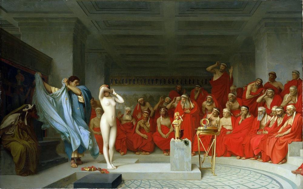 Jean Leon Gerome Phryne Revealed Before The Areopagus, Canvas, Jean-Léon Gérôme, kanvas tablo, canvas print sales