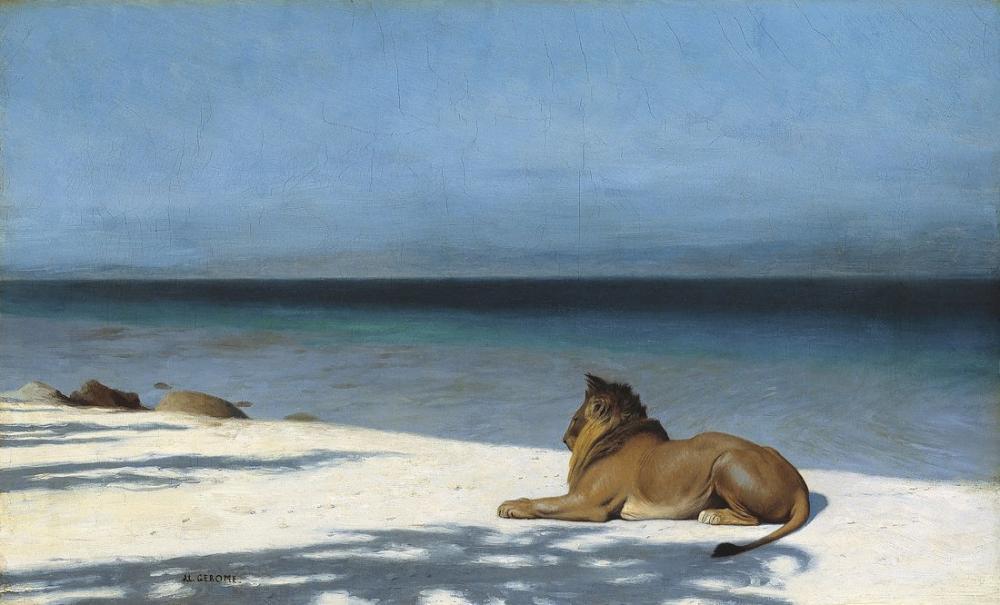 Jean Leon Gerome Yalnızlık, Oryantalizm, Jean-Léon Gérôme, kanvas tablo, canvas print sales