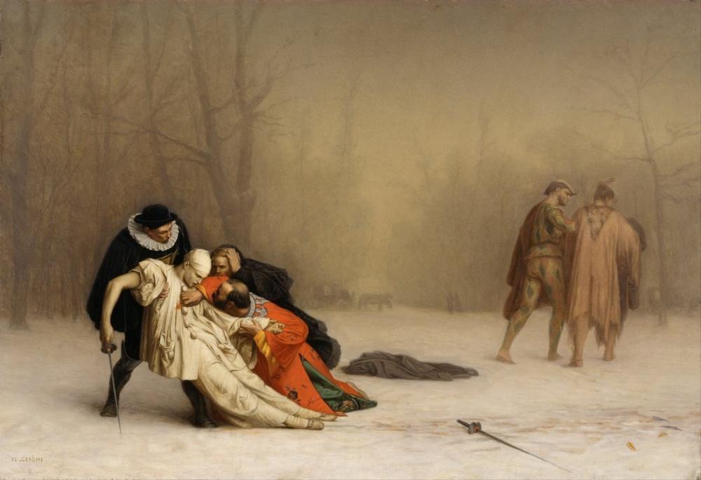 Jean Leon Gerome The Duel After The Masquerade, Canvas, Jean-Léon Gérôme, kanvas tablo, canvas print sales