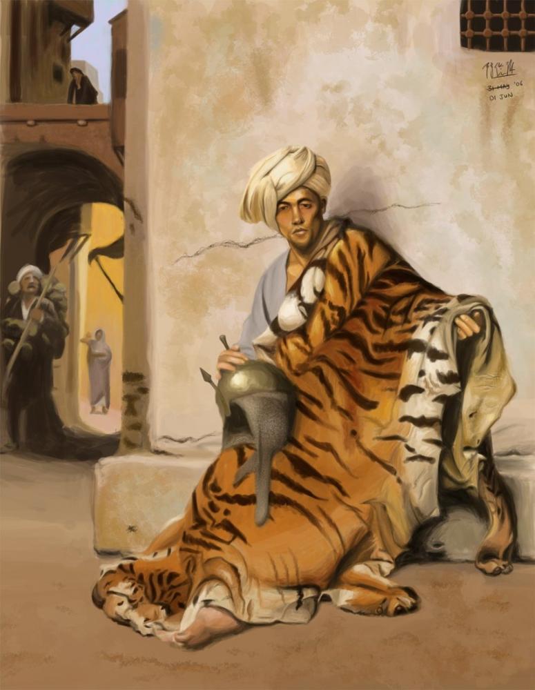 Jean Leon Gerome Pelt Merchant Of Cairo, Orientalism, Jean-Léon Gérôme, kanvas tablo, canvas print sales
