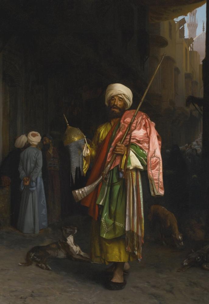 Jean Leon Gerome Marchand Ambulant Au Caire, Orientalism, Jean-Léon Gérôme, kanvas tablo, canvas print sales