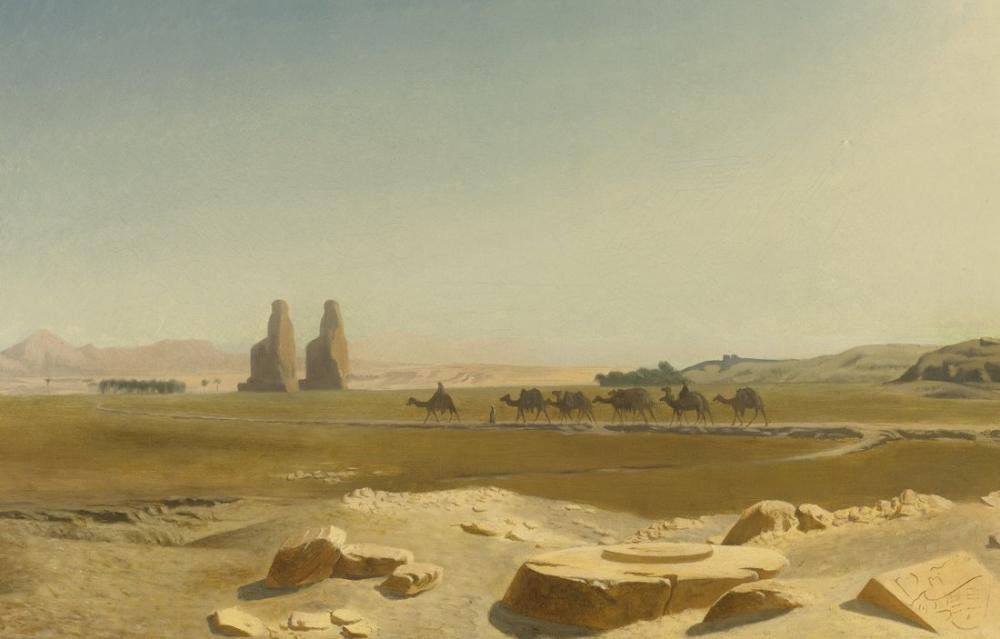 Jean Leon Gerome Memnon, Oryantalizm, Jean-Léon Gérôme, kanvas tablo, canvas print sales