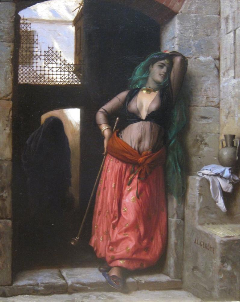 Jean Leon Gerome Almeh, Oryantalizm, Jean-Léon Gérôme, kanvas tablo, canvas print sales