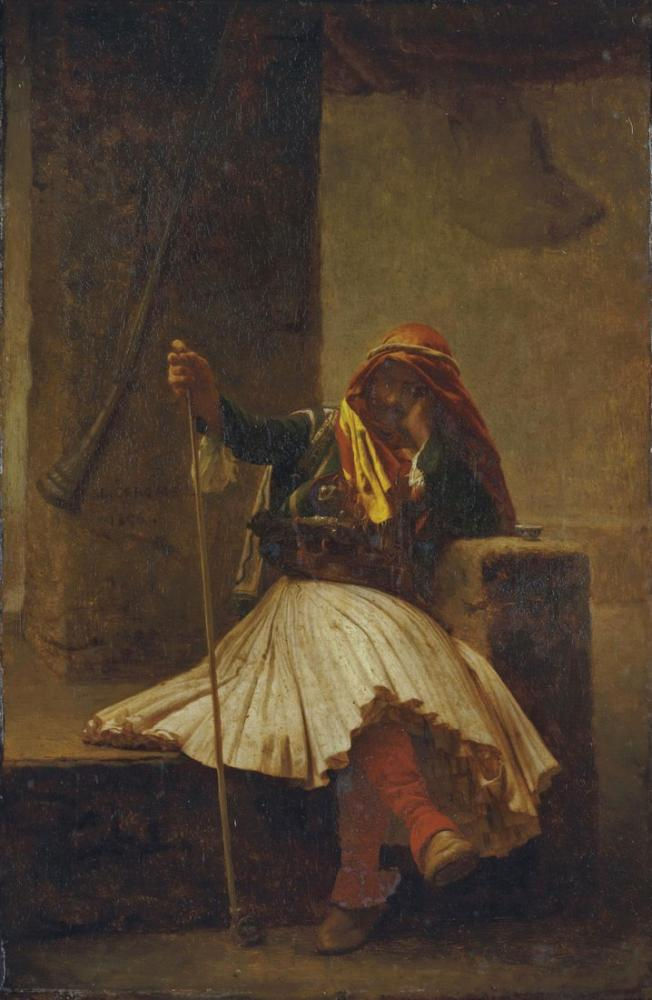 Jean Leon Gerome Arnaute Buvant, Orientalism, Jean-Léon Gérôme, kanvas tablo, canvas print sales