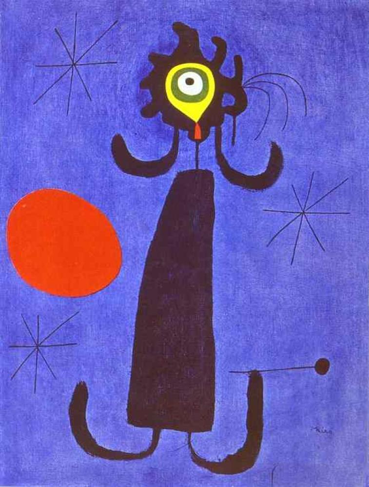 Joan Miro Woman in Front of the Sun, Canvas, Joan Miro, kanvas tablo, canvas print sales