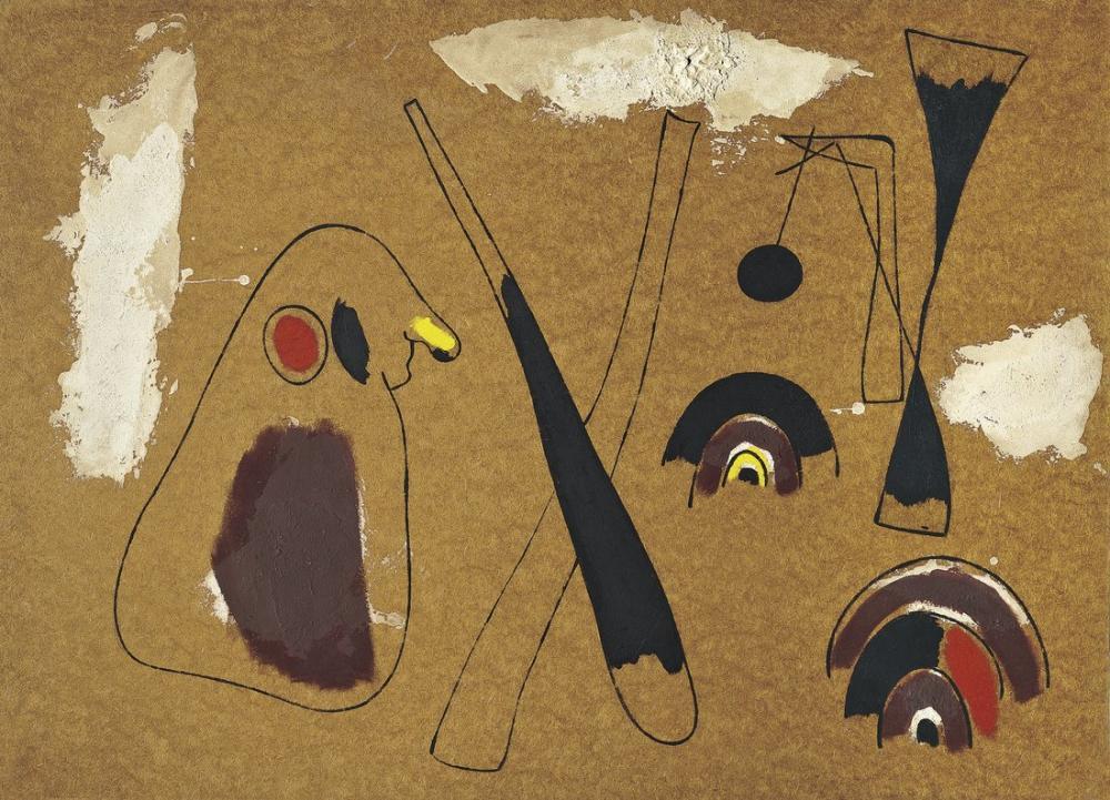 Joan Miro About Masonita, Figure, Joan Miro, kanvas tablo, canvas print sales