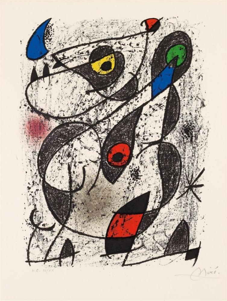 Joan Miro A L Encre, Figure, Joan Miro, kanvas tablo, canvas print sales