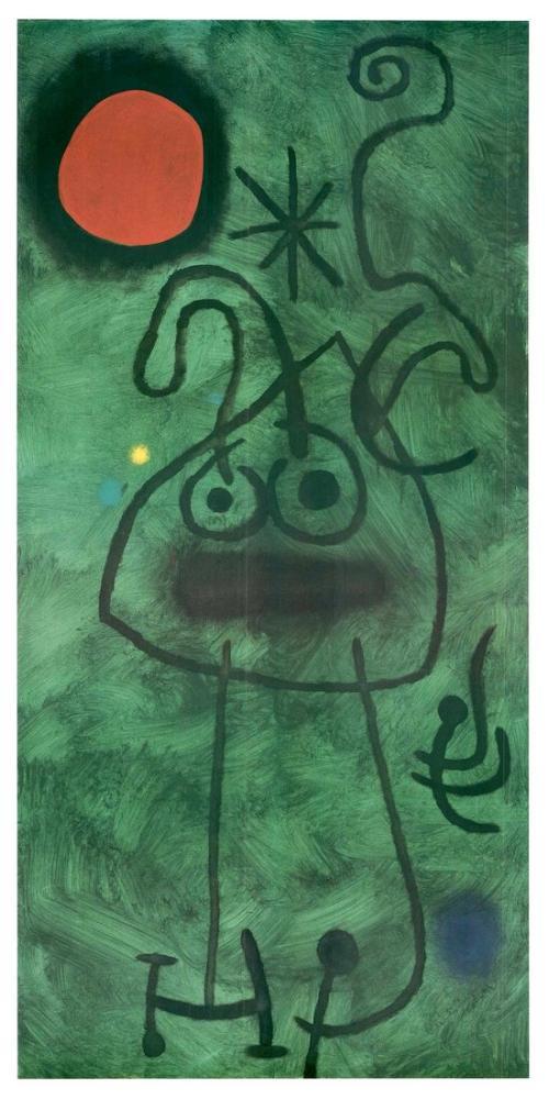 Joan Miro Tuval Üzerine Yağlıboya, Figür, Joan Miro, kanvas tablo, canvas print sales