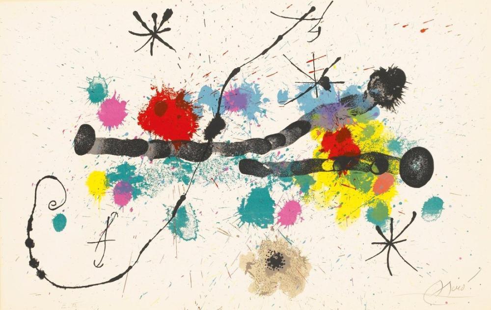 Joan Miro Bahçıvan Olarak Çalışıyorum, Figür, Joan Miro, kanvas tablo, canvas print sales