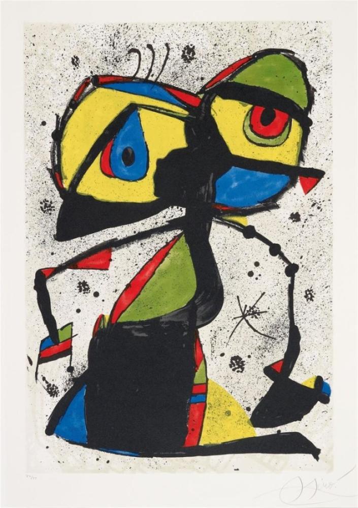 Joan Miro L Abella Somniadora, Figür, Joan Miro, kanvas tablo, canvas print sales