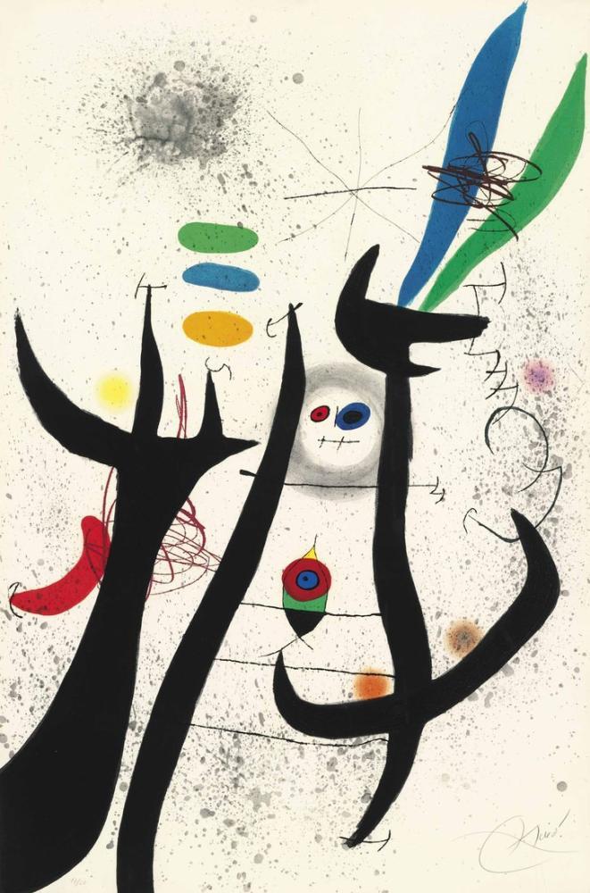 Joan Miro Ağaç Kadın, Figür, Joan Miro, kanvas tablo, canvas print sales