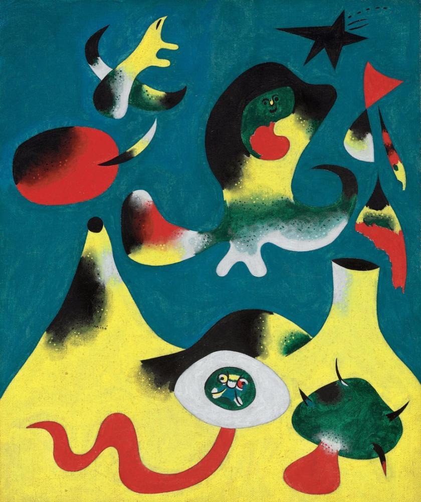 Joan Miro Sığınak, Figür, Joan Miro, kanvas tablo, canvas print sales