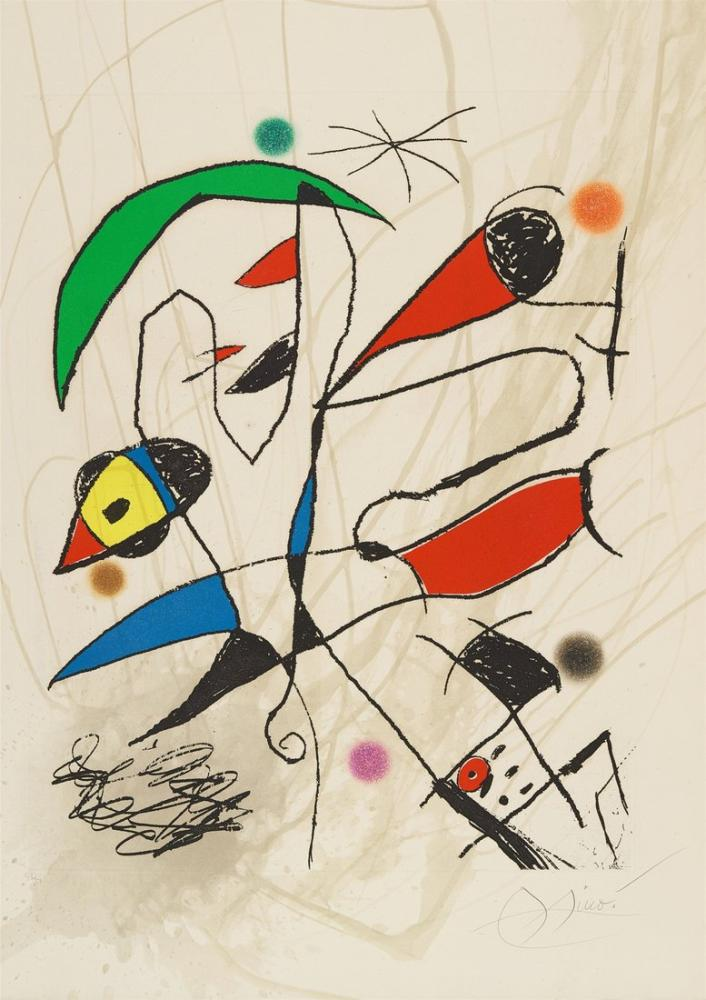 Joan Miro The Sword of the Moon Sword, Figure, Joan Miro, kanvas tablo, canvas print sales